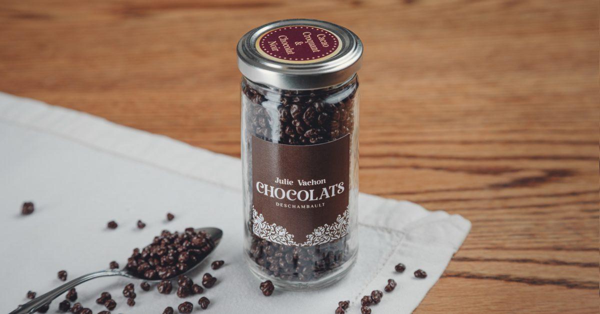 Grué cacao croquant au chocolat noir