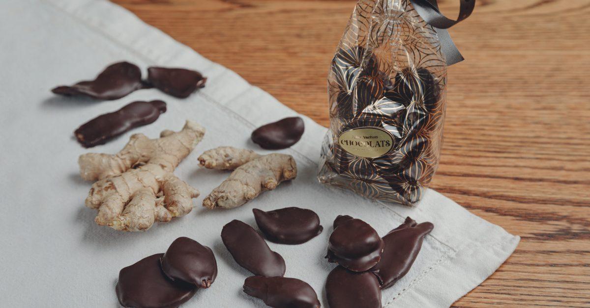 Gingembre confit au chocolat noir 100 g