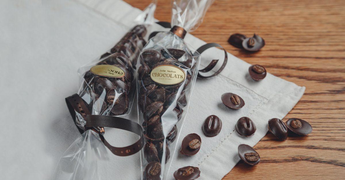 Grains de café LpB au chocolat noir 75 g